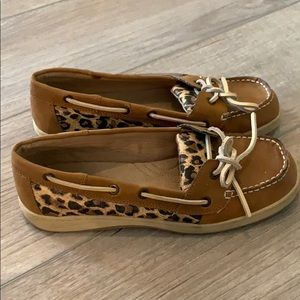 Brown & Leopard Boat Shoes